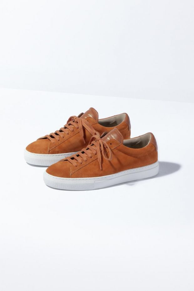 Zespa Sneakers ZSP4 HIGH Suede - Ambre