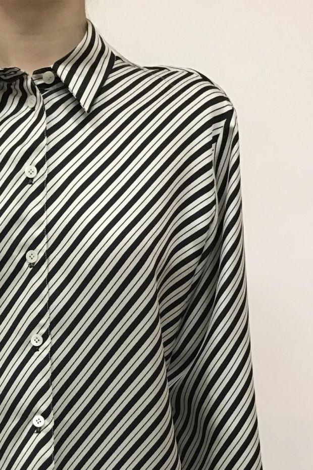 Joseph Blouse DOY Diagonal Stripe - Mastic
