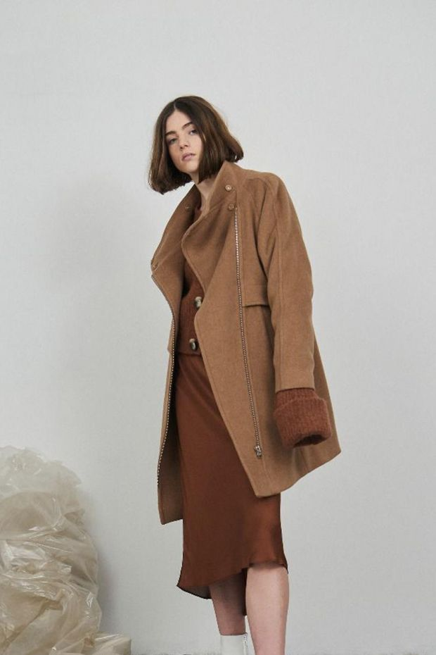 Designers Remix Hardy Long Coat - Caramel