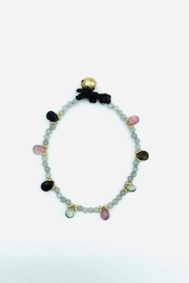 Bohemian Rhapsodie Bracelet BELU - Labradorite & Tourmalines