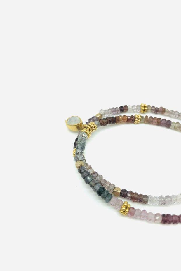 Bohemian Rhapsodie Bracelet REVA - Multi Spinnel & Bindi Rainbow Stone