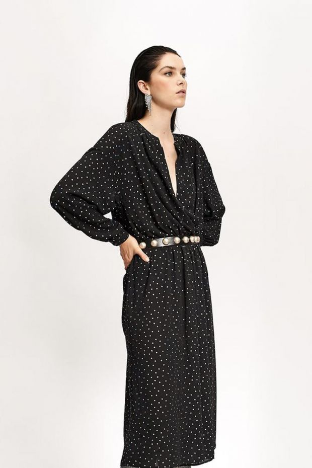 Essentiel Antwerp Robe Long Wide VIDALOCA - Black