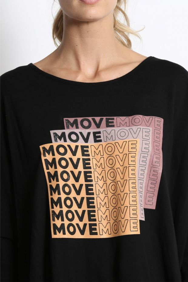good hYOUman. Tee - Shirt Stacey - Move Move Stacked - Black Sand