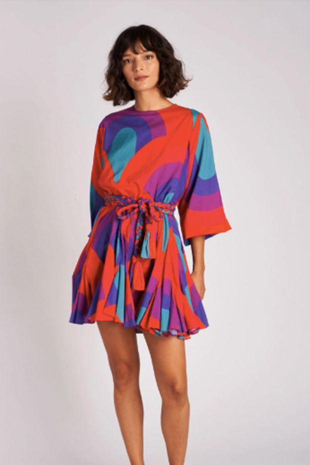 RHODE Ella Dress - Retro Rainbow