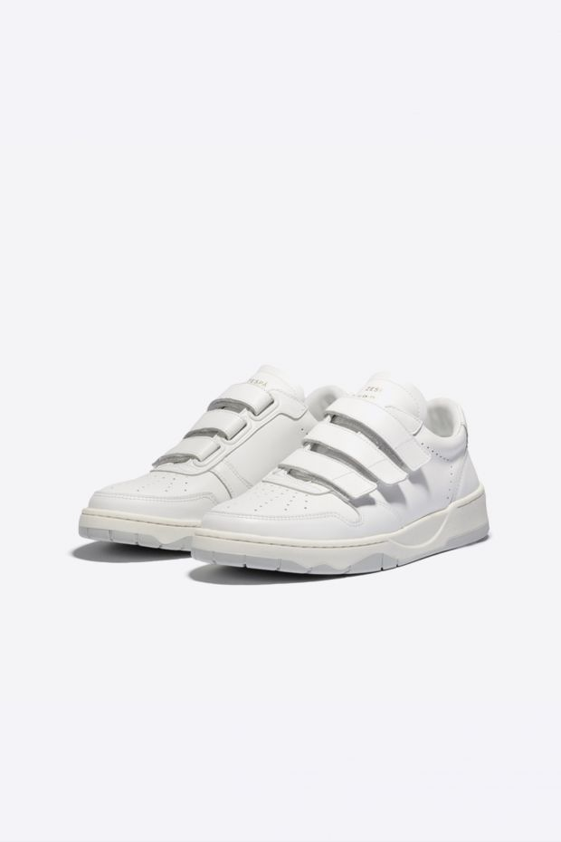 Zespa Sneakers ZSP23 Scratch Monochrome - WHITE