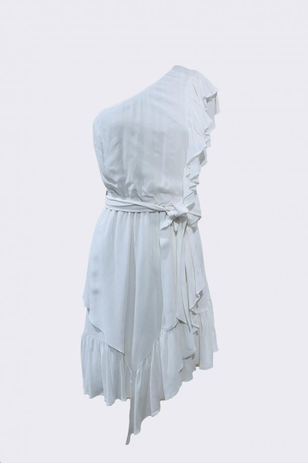 Designers Remix Eliza Ruffle Dress - Cream