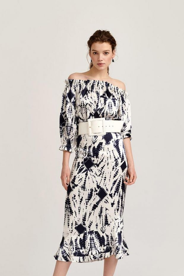 Essentiel Antwerp Robe VERDE Long Dress - Vapor Blue