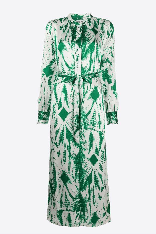 Essentiel Antwerp Robe VERNA - Long Dress - Expensive Green