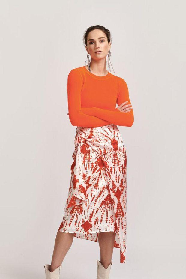 Essentiel Antwerp Jupe VYSE - Asymmetric Skirt - Berry Red