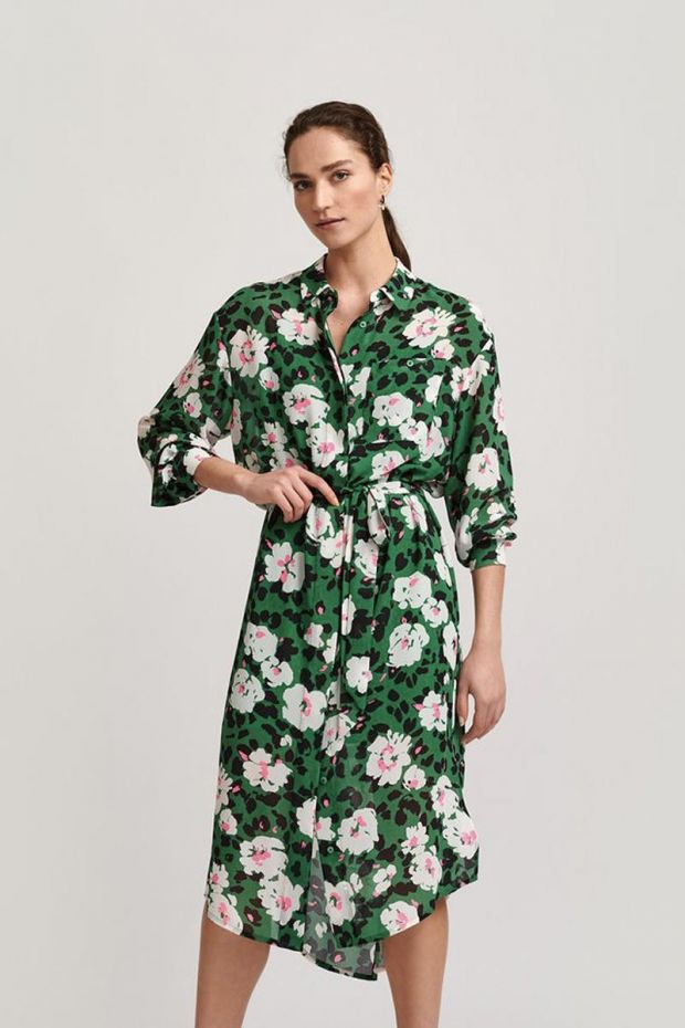 Essentiel Antwerp Robe VOHO - Long Shirt Dress - Expansive Green