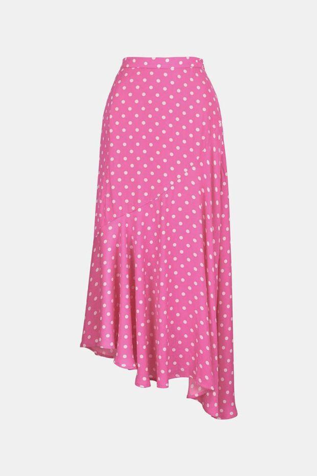 Essentiel Antwerp Jupe VADORABLE - Asymmetric Skirt - Hardcore Pink