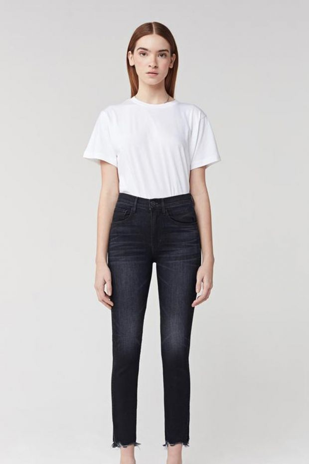 3x1 Denim W3 Straight Authentic Crop - Carryover Shake