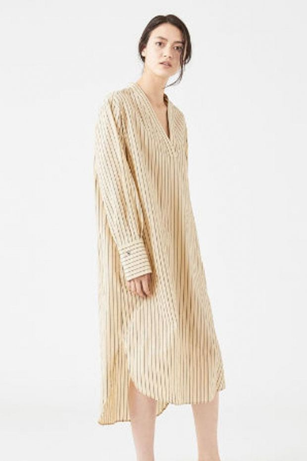 Joseph Robe JANIS Cotton Silk Stripe - Chai