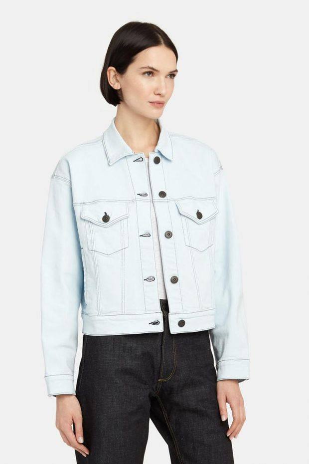 3x1 Denim Oversized Classic Crop Jacket - Adelia