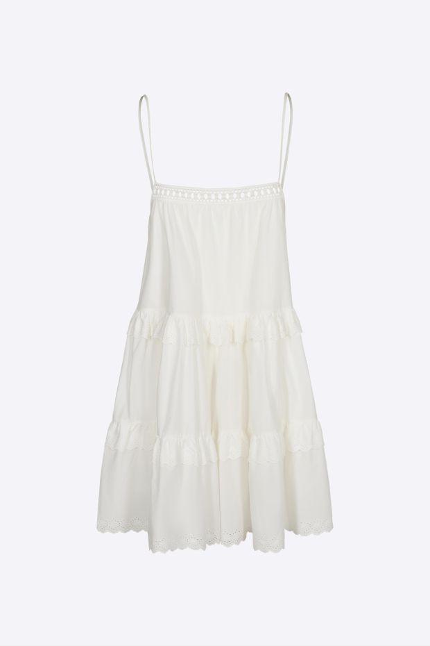 Designers Remix Sandra Strap Dress - Cream
