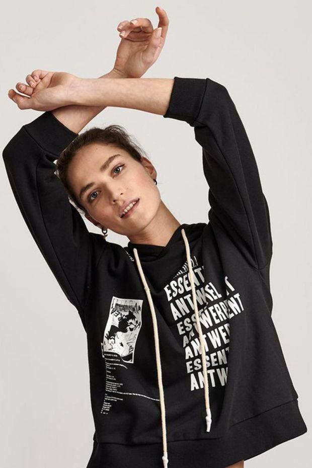 Essentiel Antwerp Sweatshirt VOETRY - Black