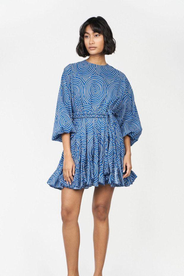 RHODE ELLA Dress - Blue Trail