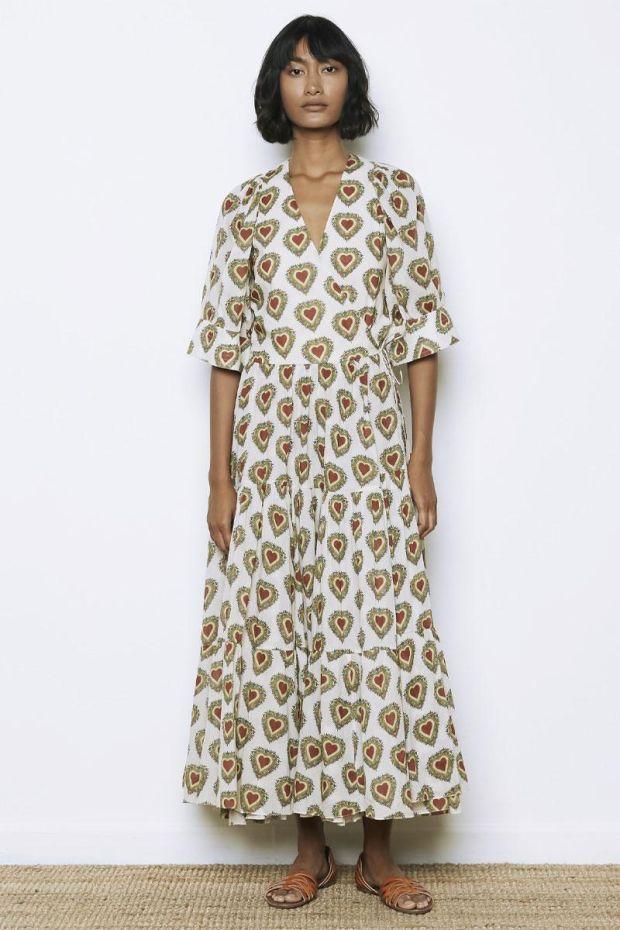 RHODE GINA Dress - Small Ivory Heart