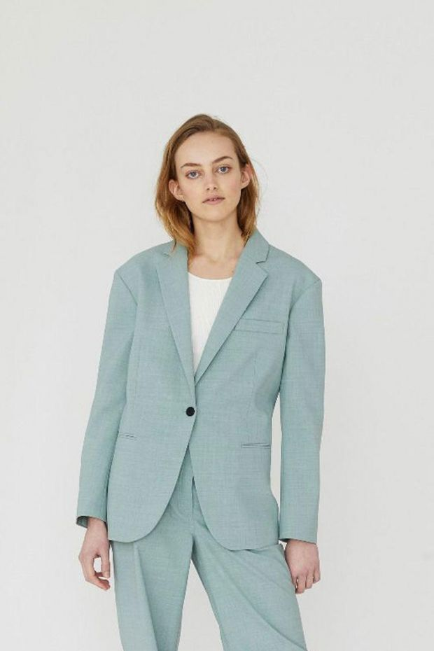 Designers Remix Blazer MARLEY Waist - Light Dusty Green