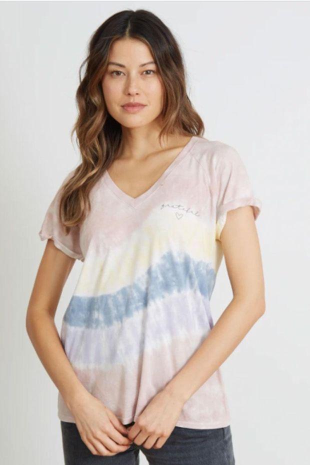 good hYOUman. T-Shirt TAMARA - Grateful Heart Cursive