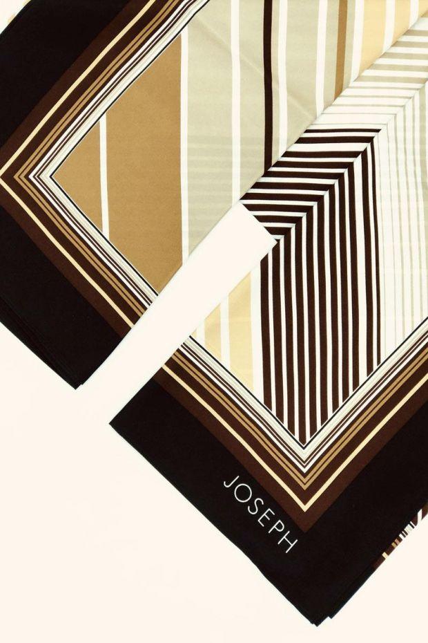 Joseph Foulard Scarf Silk Twill - Black