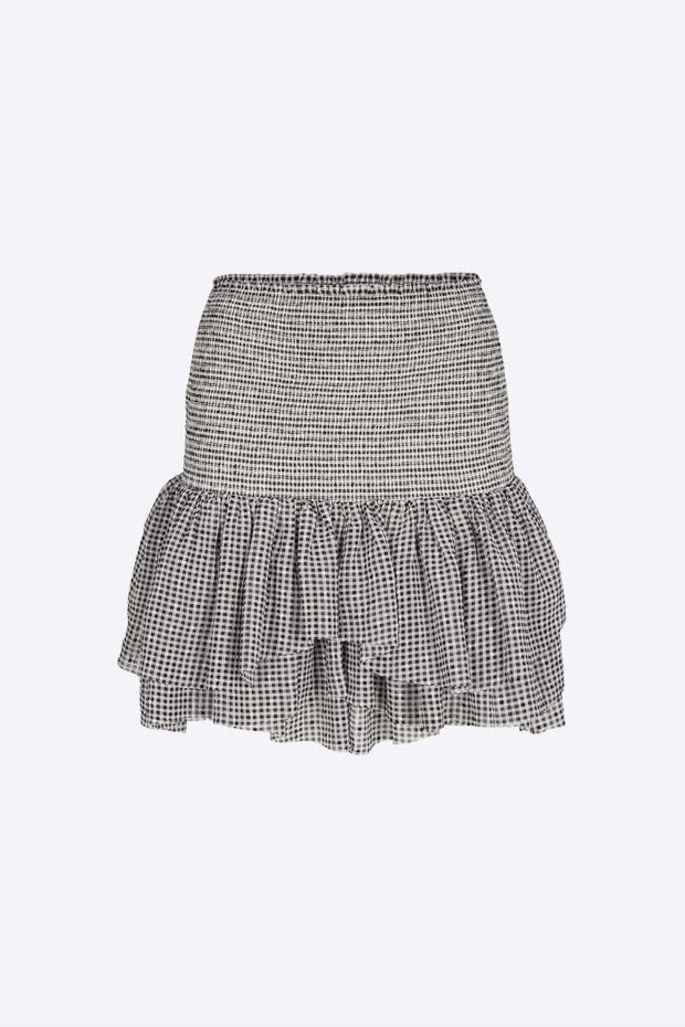 Designers Remix Kiely Short Skirt - Print BlackWhite Check