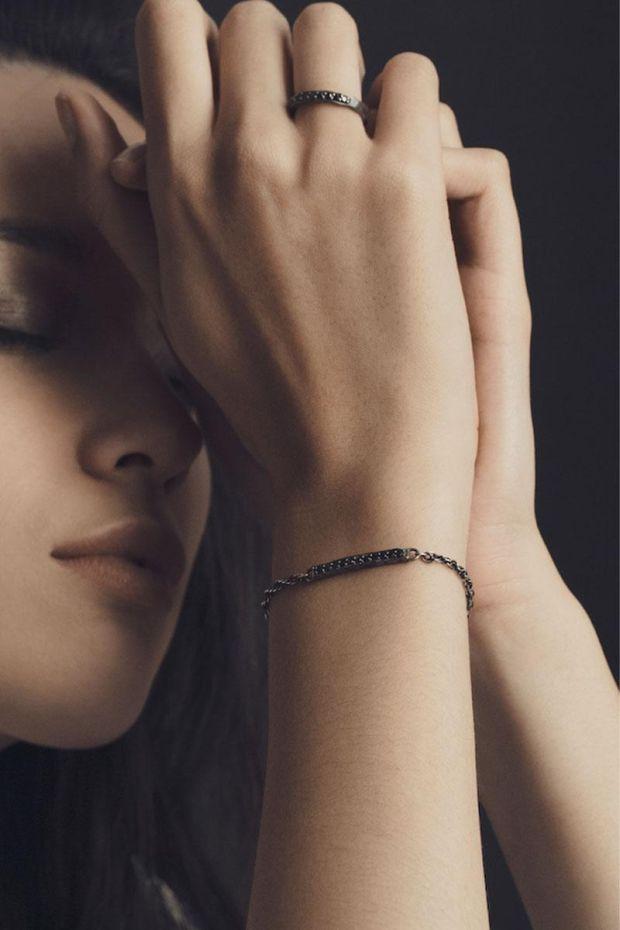 XXII Jewelry Bracelet Titane Wabi-Sabi Serti 11 Diamants