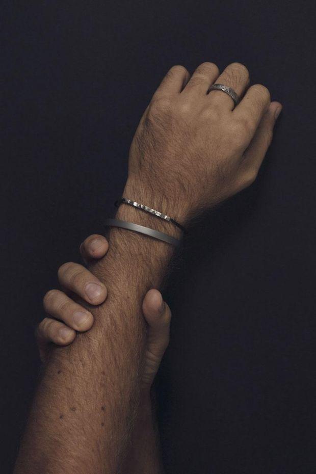 XXII Jewelry Bracelet Titane Wabi-Sabi Cordon - Homme