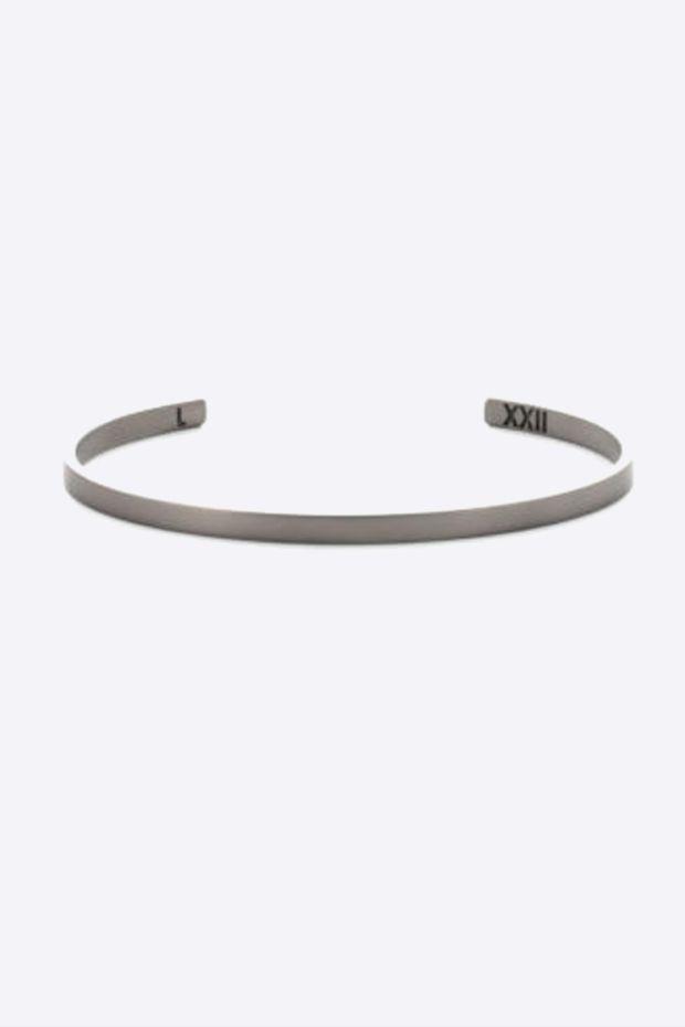 XXII Jewelry Jonc Titane Lisse - 4 MM