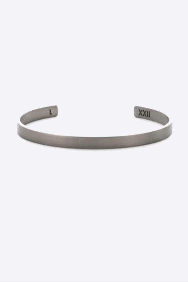 XXII Jewelry Jonc Titane Lisse - 6 MM