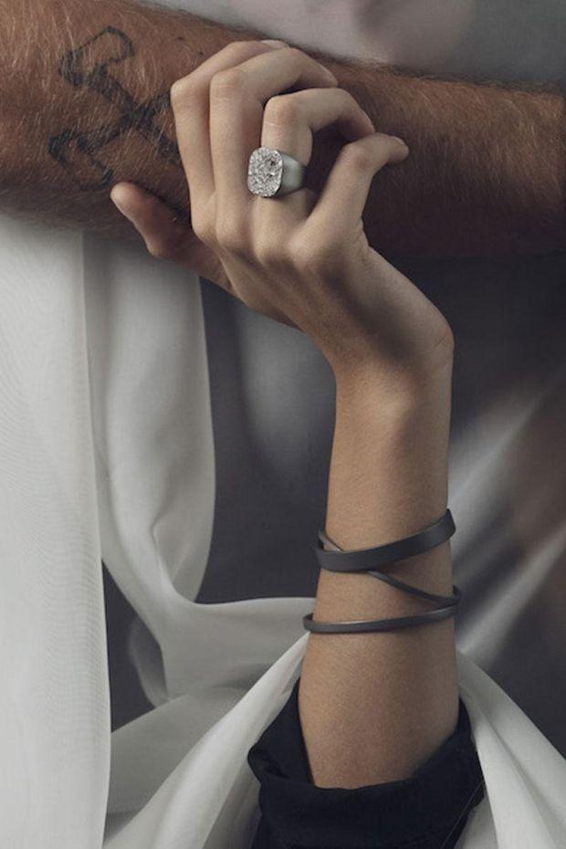 XXII Jewelry Jonc Titane Lisse - 8 MM
