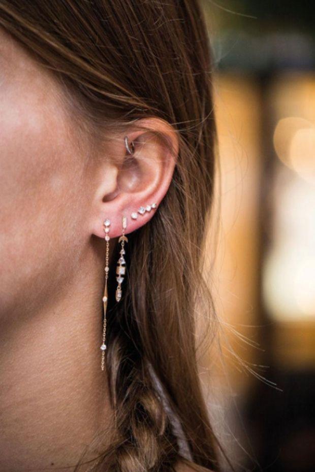CELINE DAOUST Boucle d'Oreille TOTEM Moonstone & Diamants - L' Unité