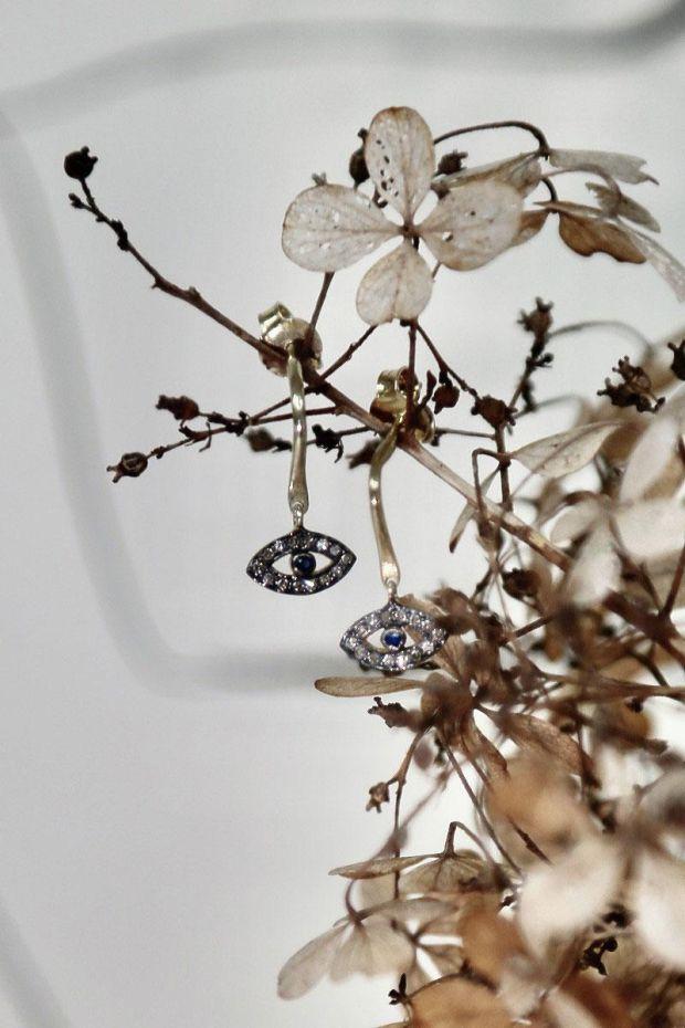 5 Octobre Boucles d'Oreilles LOOK Diamants - Argent doré or fin