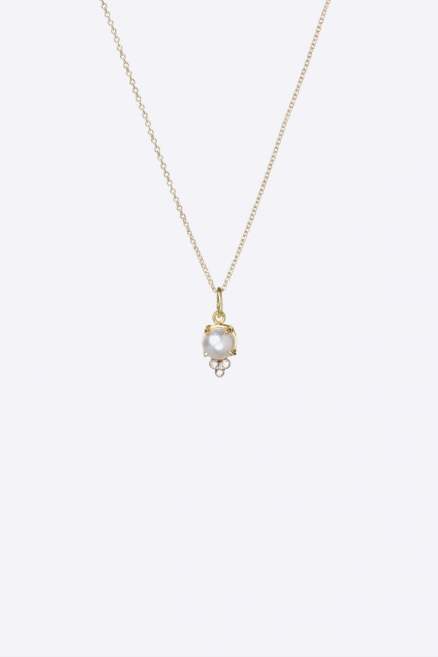 5 Octobre Collier DODDIE necklace - Or 14k, Diamants & Perle d'eau Douce