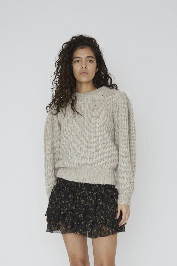 Designers Remix Jupe Kiely Short Skirt - BlackCamel Print