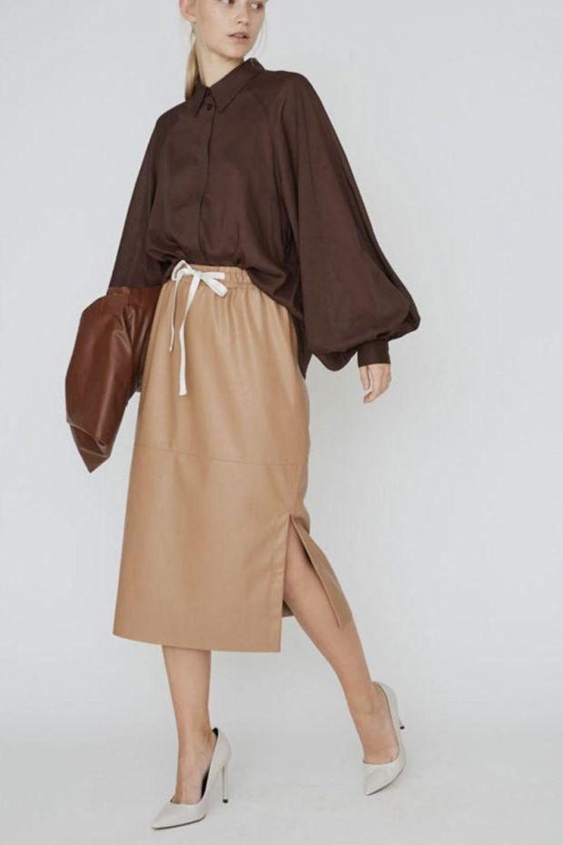 Designers Remix Jupe Marie Midi Skirt - Camel