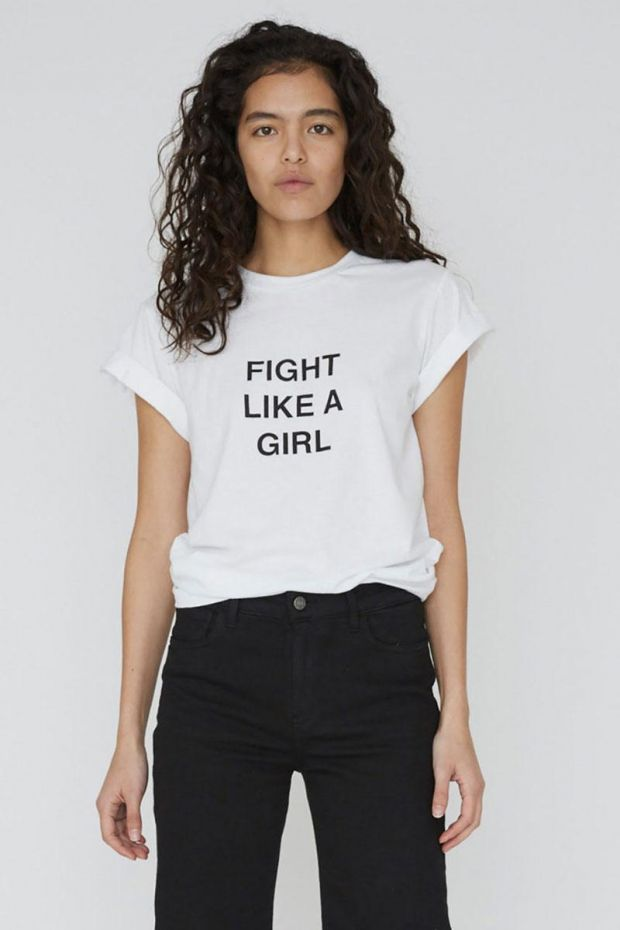 Designers Remix T-Shirt Stanley Fight Tee - White