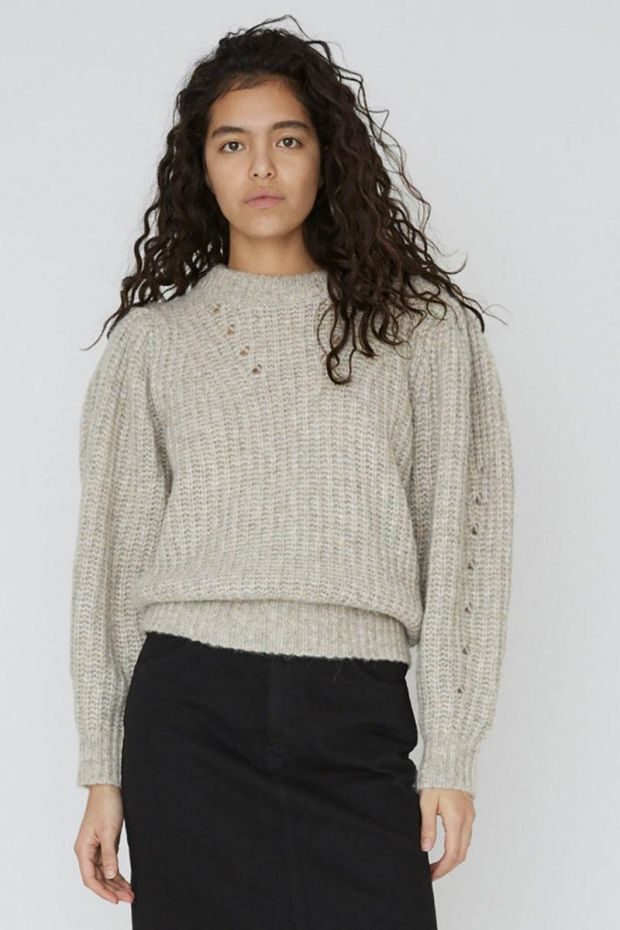 Designers Remix Pull Silvia Sleeve Knit - Light Grey Melange