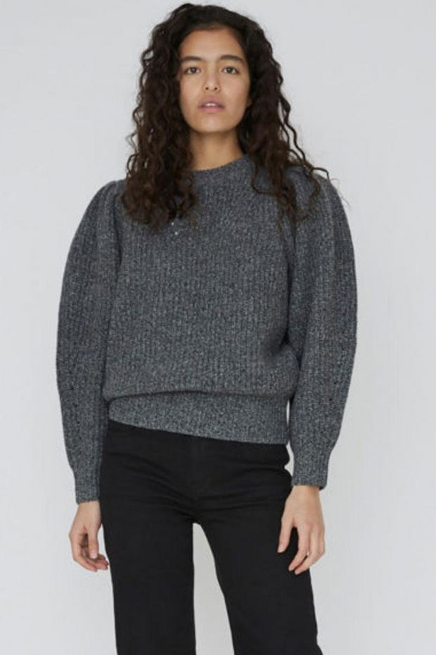 Designers Remix Pull Silvia Sleeve Knit - Dark Grey Melange