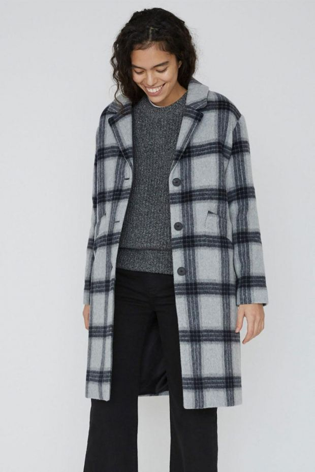 Designers Remix Manteau Amara Coat - Grey Check
