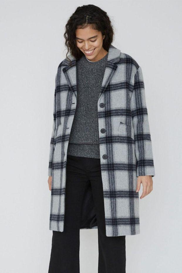 Designers Remix Manteau Amara Coat - Grey Check