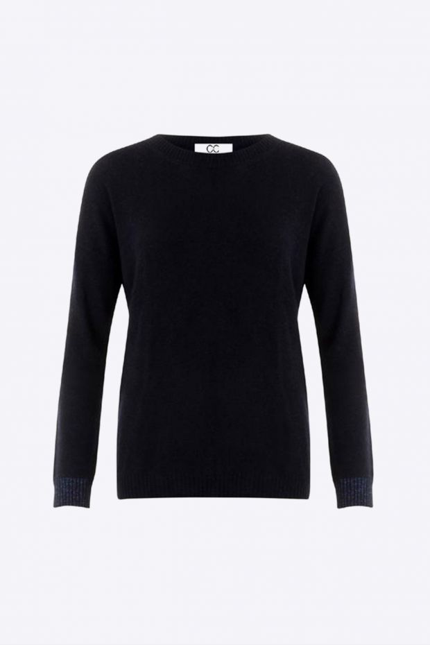 Coster Copenhagen Pull CC Heart Relaxed Cashmere Sweater - Black