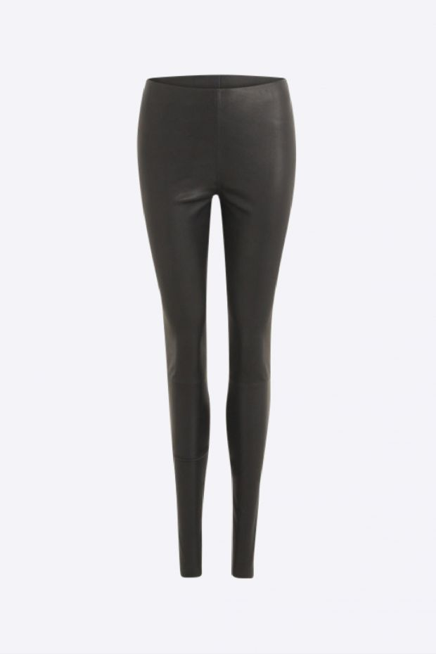Coster Copenhagen Pantalon CC Heart Leather Legging - Black