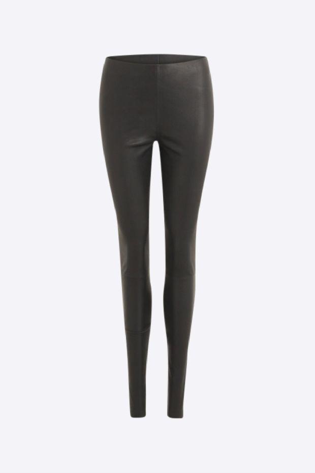 Coster Copenhagen Pantalon CC Heart Leather Legging - Black