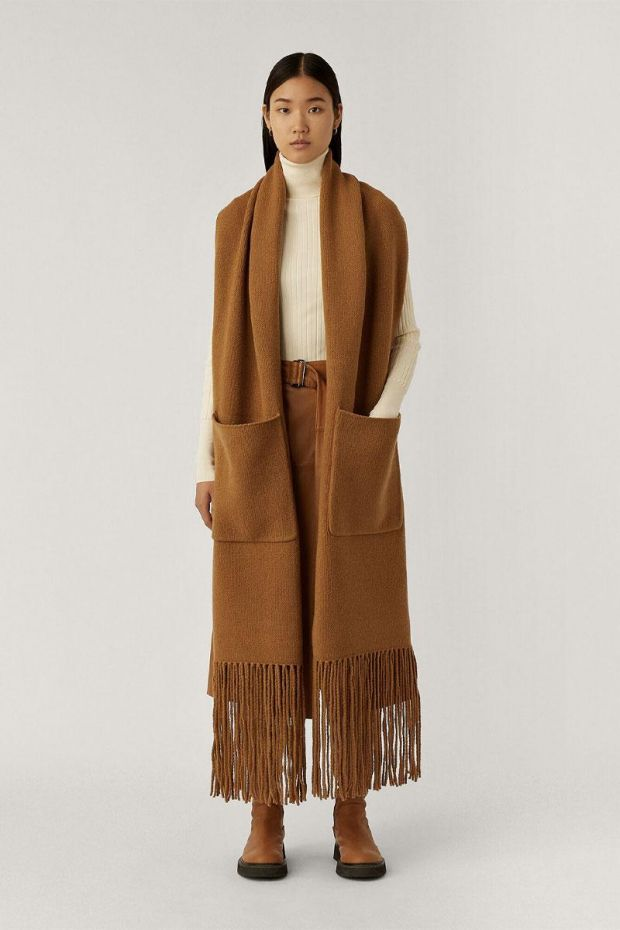 Joseph Echarpe Boiled Wool - Camel