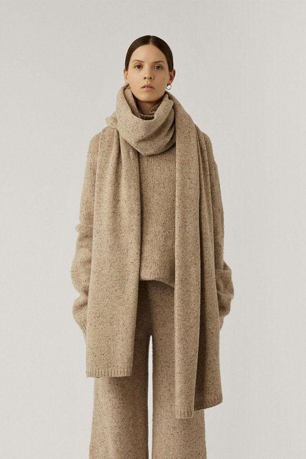 Joseph Echarpe Plaid Tweed Knit - Blush