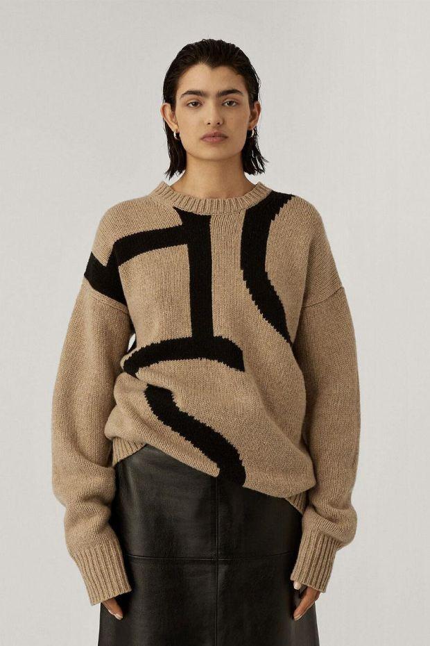 Joseph Pull Logo Sweater Intarsia - Blush
