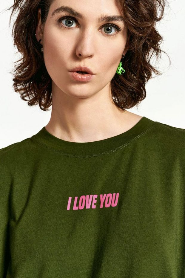 Essentiel Antwerp T-Shirt WATEMENT Printed - Combo Polo Green