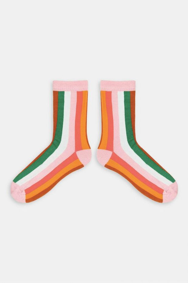 Essentiel Antwerp Chaussettes WARADISE vertical lines socks - Combo Pink Icing