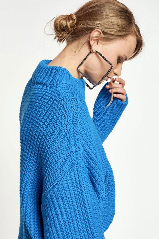 Essentiel Antwerp Pull WINGLE Oversize pullover - Persian Sky